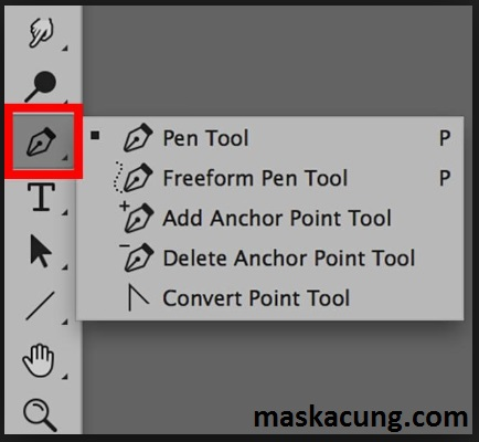 Cara menghilangkan background di photoshop dengan pen tool