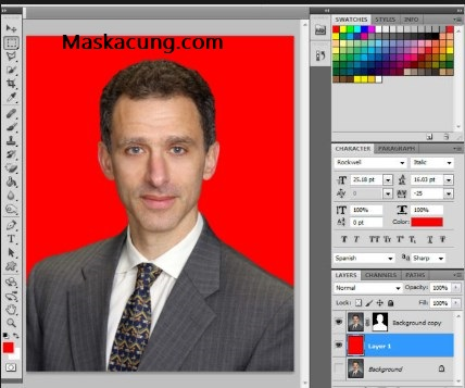 Ganti bakcground foto dengan adobe photoshop
