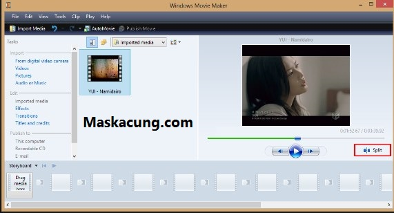Cara memotong video di komputer dengan movie maker